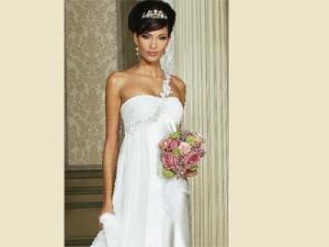 Umstandsmode Hochzeit Kleid